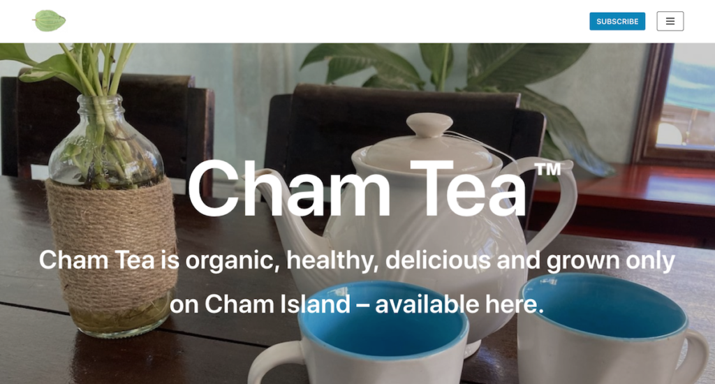 ChamTea is a website Randy created to share the tea he discovered on Cham Island.